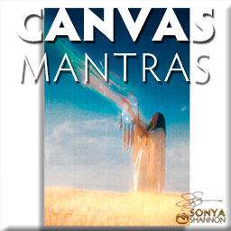 Sonya Shannon Canvas Mantras Button