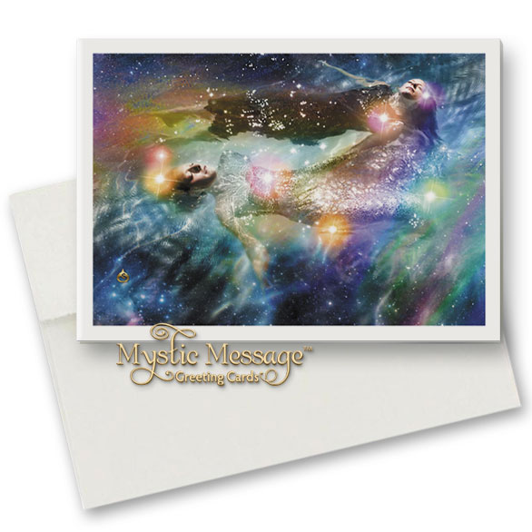 One Way to Pleiades Greeting Card by Sonya Shannon