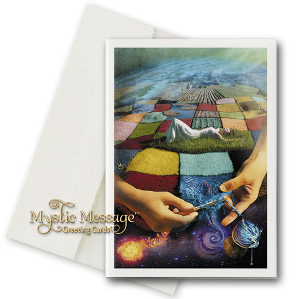 Patchwork Earth Greeting Card