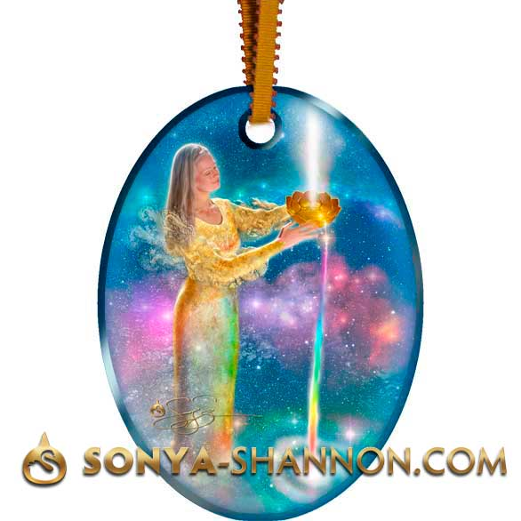 Celestial River Christmas Angel Ornament