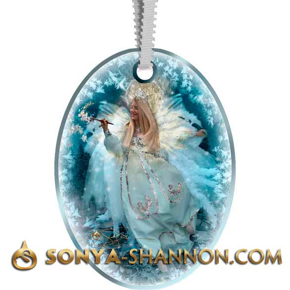 Frost Faerie Angel Christmas Ornament