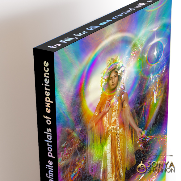 """Rainbow Shaman"" Canvas Mantra by Sonya Shannon"